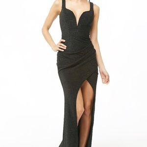 Black Glitter Maxi Dress Forever 21 Size M NWT